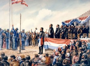 Painting on Annexation of Texas