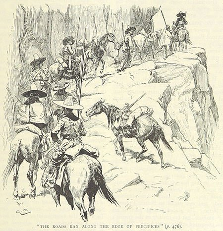 Depiction of Bolivar's journey during his Campaign to liberate New Granada