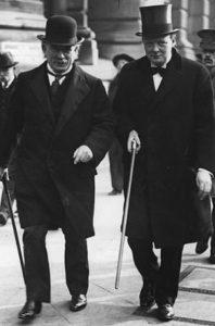 David Lloyd George and Winston Churchill