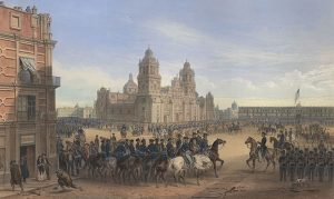 Painting of the Battle for Mexico City