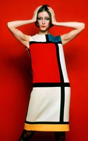 Piet Mondrian dress by Yves Saint Laurent