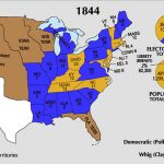 Electoral Map of the 1844 U.S. Presidential Elections