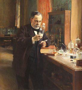 Louis Pasteur in his laboratory