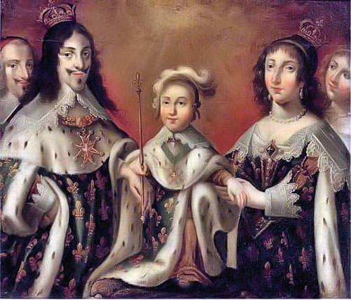 Louis XIII, Anne of Austria, and Louis XIV