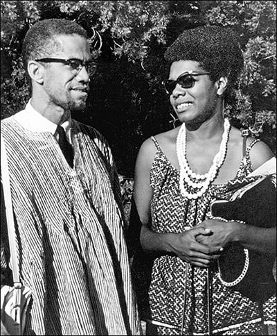 Malcolm X and Maya Angelou