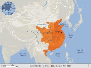 Map of Sui dynasty