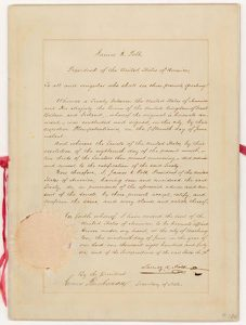 Original copy of the Oregon Treaty