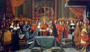 Wedding of Louis XIV and Maria Theresa painting