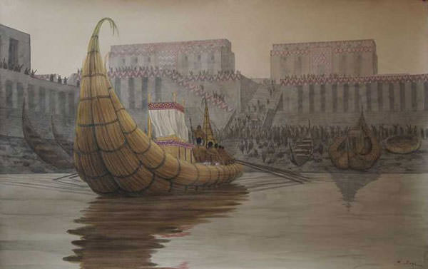 Re-creation of the port at Eridu