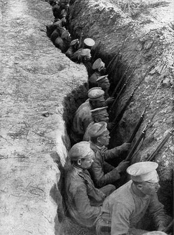 Russian troops during World War I
