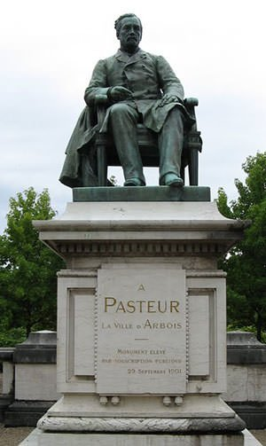 Statue of Louis Pasteur in Arbois