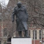 Winston Churchill statue in London
