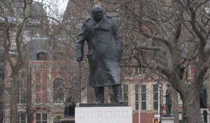 Winston Churchill statue in London