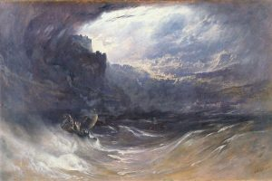 Painting depicting the Deluge