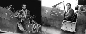 Eric Stanley Lock with his Supermarine Spitfire