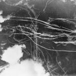 Trails after a fight during the Battle of Britain