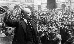 Vladimir Lenin during the Russian Revolution