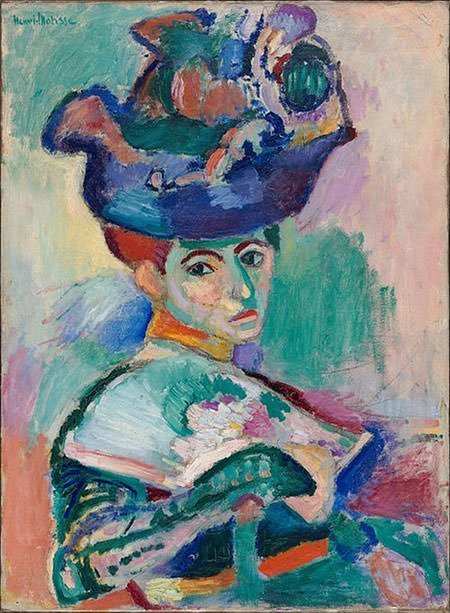 Woman with a Hat (1905) - Henri Matisse