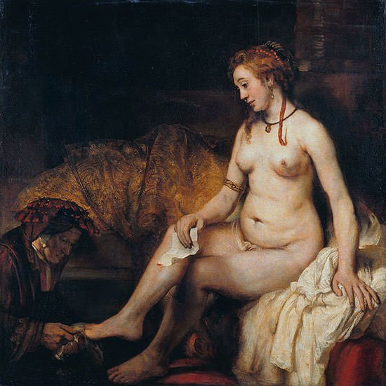 Bathsheba at Her Bath (1654) - Rembrandt van Rijn