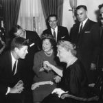 Helen Keller and John F. Kennedy