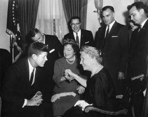 Helen Keller and John F. Kennedy