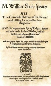 King Lear - Title Page
