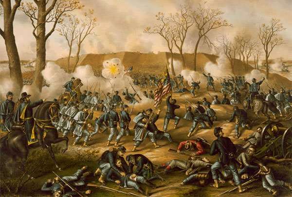 Battle of Fort Donelson Lithograph