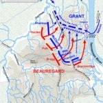 Battle of Shiloh Map - April 6 afternoon
