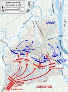 Battle of Shiloh Map - April 6 morning