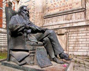 Monument to Dmitriy Mendeleev in St Petersburg