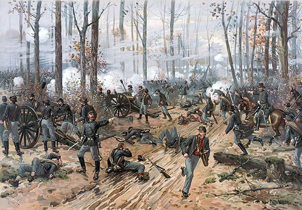 Painting of Battle of Shiloh