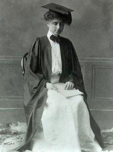 Helen Keller at her Radcliffe Graduation in 1904