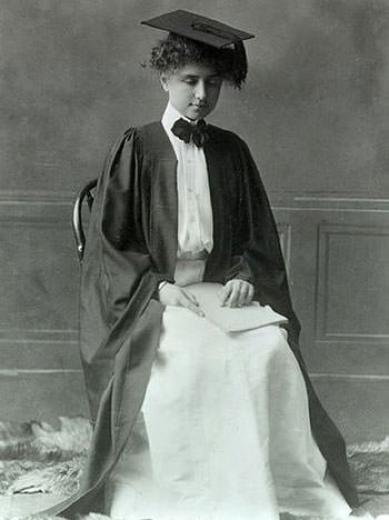 Helen Keller at her Radcliffe Graduation in 1904
