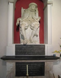 Francis Bacon statue at his burial place