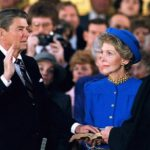Ronald Reagan sworn in as US President in 1985