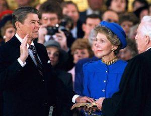 Ronald Reagan sworn in as US President in 1985