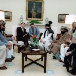 President Reagan meeting Afghan leaders