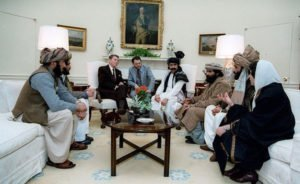 President Reagan meeting Afghan leaders