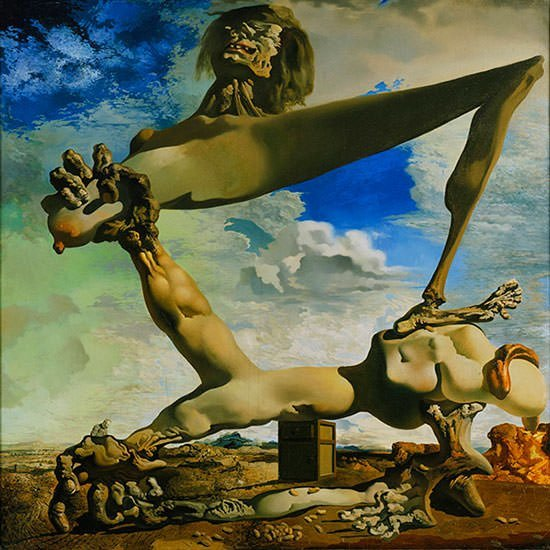 soft construction with boiled beans 1936 salvador dali