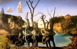 Swans Reflecting Elephants (1937) - Salvador Dali