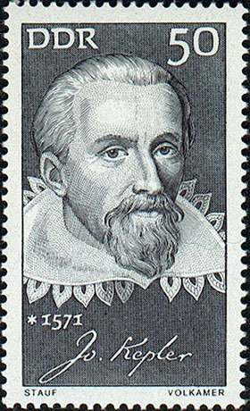 Johannes Kepler 1971 German stamp