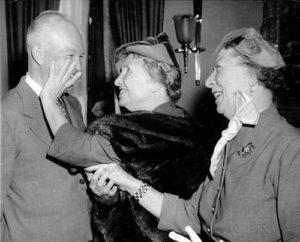 Helen Keller and Dwight D. Eisenhower