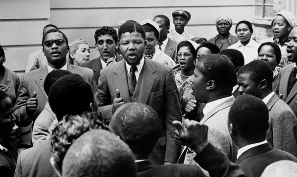 Nelson Mandela during the Rivonia Trial