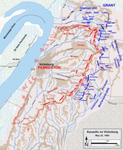 Battle of Vicksburg Map, May 22, 1863