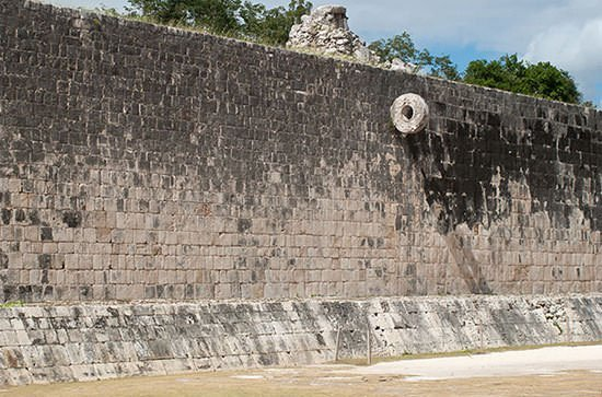 Mayan Ball Court wall