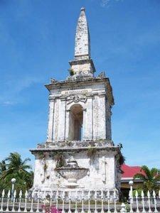 Memorial shrine to Ferdinand Magellan in Philippines