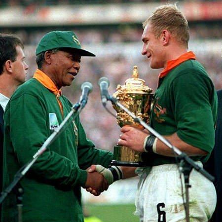 Nelson Mandela and Francois Pienaar