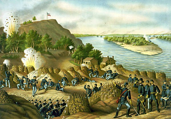 Battle of Vicksburg Painting