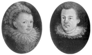 Johannes Kepler and his wife Barbara Muller