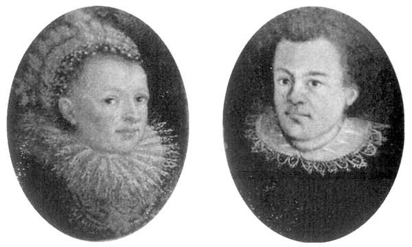 Johannes Kepler and his wife Barbara Muller